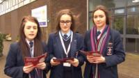 School reporters from St Patrick's Academy, Dungannon