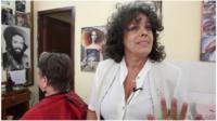 Havana barber Josefina Hernandez Torres