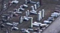A police investigation is underway in St Louis after more than 170 headstones were damaged.
