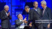 Jimmy Carter, George HW Bush, Barack Obama, George W Bush and Bill Clinton