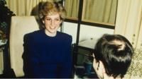 Princess Diana with an aids patient