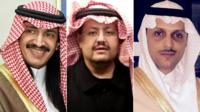 Prince Turki bin Bandar, Prince Sultan bin Turki and Saud bin Saif al-Nasr