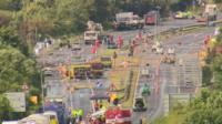 Investigation at the site of the Shoreham Airshow crash
