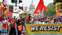 "Demonstrators gather for People""s Climate March in Washington"