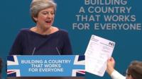 Theresa May handed P45 during her speech