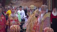 Orthodox clergy led the special ceremony