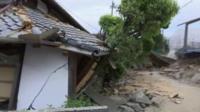 Kumamoto earthquake damage