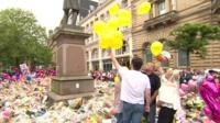 Balloon tribute for Manchester victim