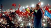 Turkey President Erdogan at Istanbul rally