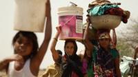 Women of Gopipur village walk for miles each day for fresh water
