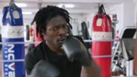 Cameroonian refugee fights in South Korea