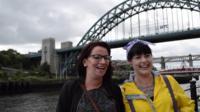 Women at Tyne Bridge