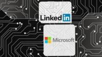 LinkedIn and Microsoft logos