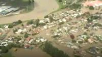 Aerial view of NZ floods
