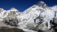Everest with the Kumbu glacier below