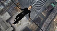 Joseph Gordon-Levitt plays tightrope walker Philippe Petit