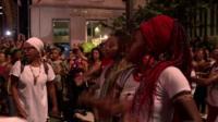 Crowds mourn murdered activist