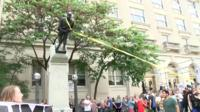 Confederate statue pulled down in Durham, North Carolina