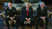 Lt Gen HR McMaster, Donald Trump, Keith Kellogg