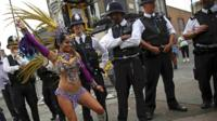 Police at the Notting Hill carnival