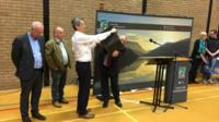 Gwynedd council's chief executive Dilwyn Williams draws the lot