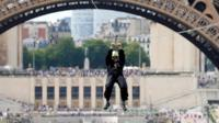 Zipwire at Eiffel Tower