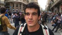 Protesting Catalan student Mauro Castro Soler
