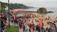 The Friday night swim starts the Long Course Weekend in Tenby