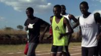 Malawian athletes running