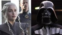 Still from Game of Thrones and Darth Vader