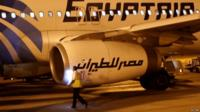An EgyptAir plane - library photo