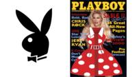 Playboy bunny and magazine cover