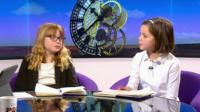 Children interviewing Andrew Neil