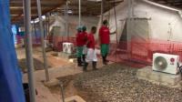 Ebola treatment centre in West Africa