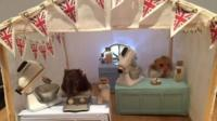 Hamsters in a Great British Bakeoff Tent Model