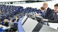 Pavel Telicka chairs a plenary sitting of the European Parliament