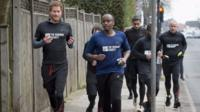 Prince Harry running in London
