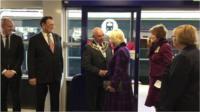 The Duchess of Cornwall meeting the Mayor of Swindon