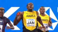 Usain Bolt pulls up