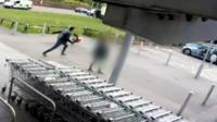 Man running to his car
