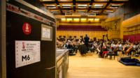 Orchestra rehearsal with Gareth Llewellyn