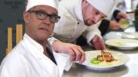 Aaron Heslehurst and chef