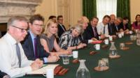 Theresa May's reshuffled Cabinet meets for the first time