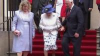 The Queen at Canada House in London