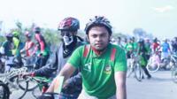Cyclist in Bangladesh