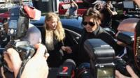 Amber Heard and Johnny Depp arrive at Southport Magistrate's Court in Queensland