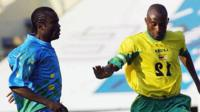 Peter Ndlovu in action for Zimbabwe