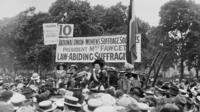 The suffragists campaigned non-violently for women's right to vote.