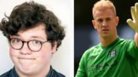 Two Joe Hart's - one a goalkeeper, the other a comedian