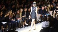 Fashion model on runway